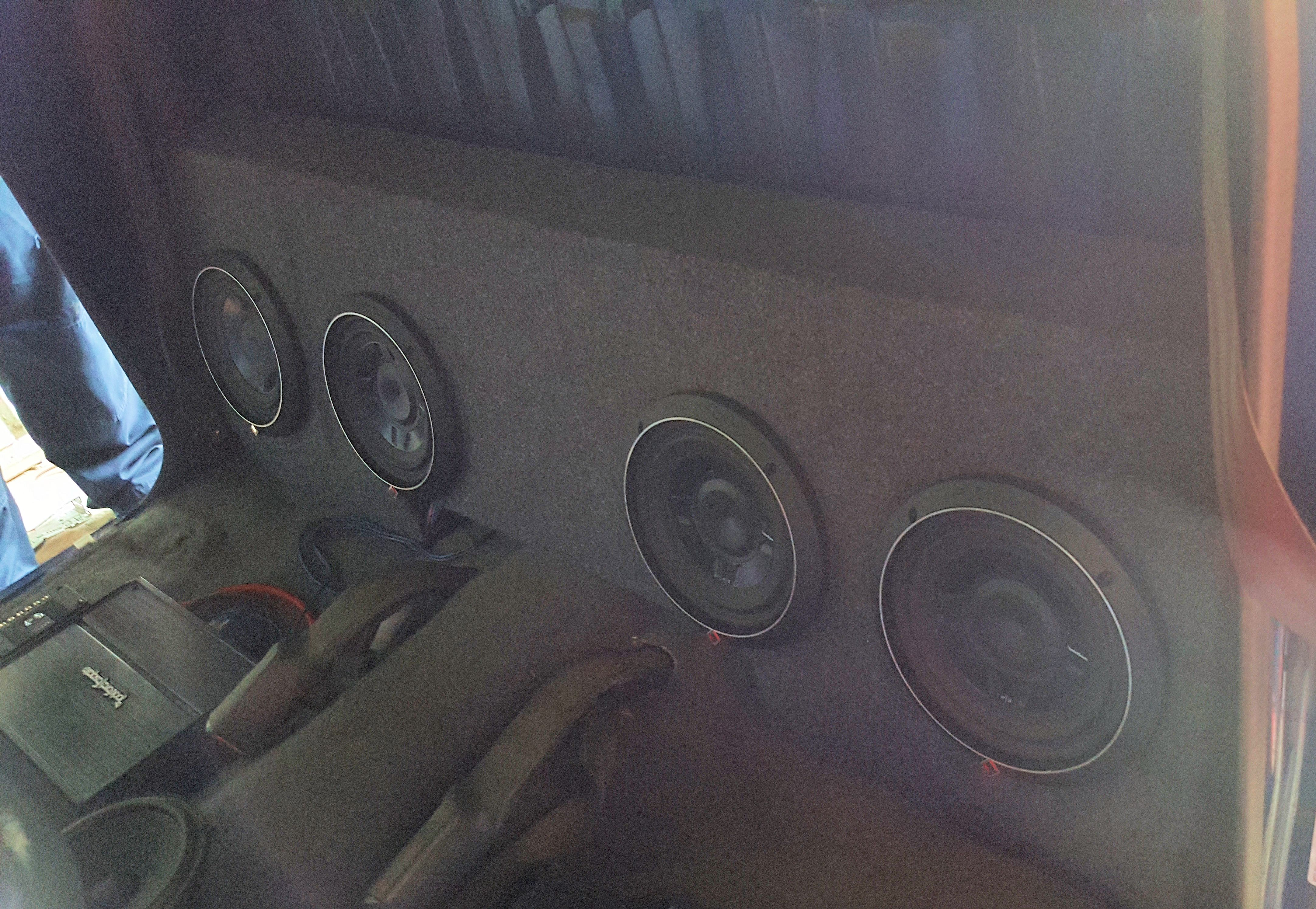 Bakersfield Rockford Fosgate Amp Infinity Speakers Specs P3s8 Shallow 8 Subwoofers
